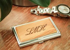 Stocking stuffer idea: personalized business card case.