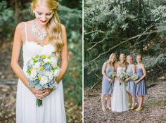 Classic Bride & Groom Blue and Yellow Prep Wedding Photo | Andrew Mark Photography