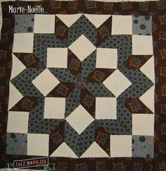 marie-noëlle-roiseux Le Point, Arrows, Quilt Patterns, Quilting, Stitch, Star, Blanket, Full Stop, Quilting Patterns