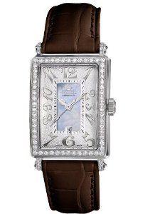 Gevril Women's 7247NL.5 Blue Mother-of-Pearl Genuine Alligator Strap Watch