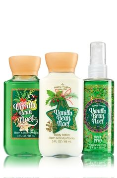 Vanilla Bean Noel Travel Size Daily Trio - Signature Collection - Bath & Body Works