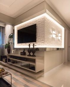 Easy Home Decor For Everyone – Best Puzzles, Games, Ideas & Living Room Interior, Home Interior Design, Living Room Decor, Living Room Tv Unit Designs, Tv Wall Decor, Tv Wall Design, Easy Home Decor, House Styles, Home Fashion