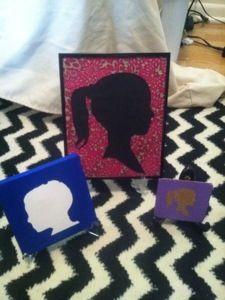 DIY Silhouette Prints // For Moms