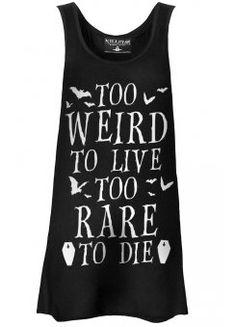 Too Weird To Live Vest Dress