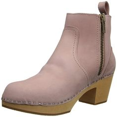 Amazon.com | Swedish Hasbeens Women's Zip IT Emy Ankle boot | Ankle & Bootie