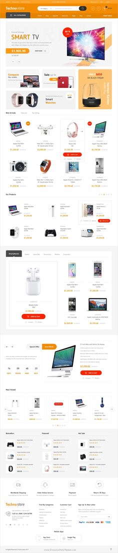 Techno store is clean and modern design #Photoshop template for stunning #eCommerce website with 10+ homepage layouts and 50+ layered PSD files download now > https://themeforest.net/item/techno-store-electronic-ecommerce-psd-template/19910482?ref=Datasata