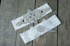 Elegant Rhinestone Wedding Garter Set  Bridal Garter Set  Custom Fit by ThePinkBunnyWeddings on Etsy https://www.etsy.com/listing/208126765/elegant-rhinestone-wedding-garter-set