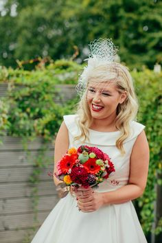 1950s-inspired bride // photo by Christopher Currie // http://ruffledblog.com/1950s-inspired-scottish-wedding