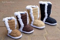 Crochet Baby Uggs Winter Boots Pattern Named after the Kings Canyon National Park in Californias Sierra Nevadas, these booties are a beautiful project to make for your little one, or a one-of-a-kind gift to a mommy-to-be. Make them for a newborn photo prop or as a stylish statement
