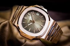 Patek Philippe Nautilus Rose Gold Chocolate Dial Watch 2015