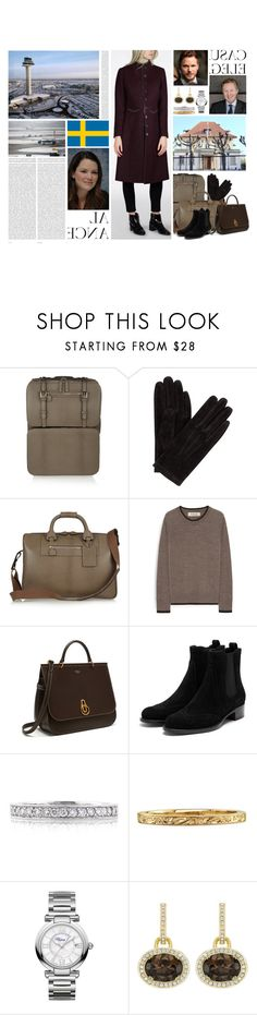 """""""Untitled #3194"""" by duchessq ❤ liked on Polyvore featuring Oris, Moncrief, John Lewis, Mulberry, Mark Broumand and Chopard"""
