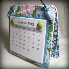 Easel Desk Calendar by CardsAndMoreBySheri on Etsy, $8.00