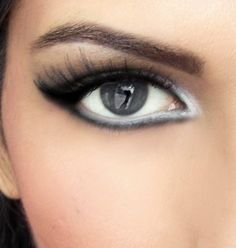 White eyeliner lined closely