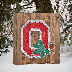 Ohio State String Art, Block O String Art, OSU, Buckeyes, Columbus, Ohio, Ohio Pride