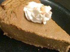 Spiced Pumpkin Cheesecake. Vegan cheesecakes are easy! :)
