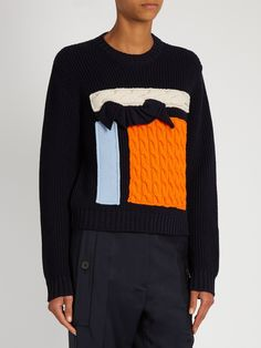 Knit appliqué wool sweater | MSGM | MATCHESFASHION.COM UK