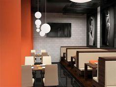 Contraste graphique orange et noir | Zolpan