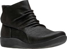 d5905c4d1ef3 Women s Clarks Sillian Sway Bootie - Black Synthetic Nubuck with FREE  Shipping   Exchanges. Step out in style wearing the Clarks Sillian Sway  Bootie.