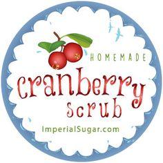 Cranberry Sugar Scrub | Imperial Sugar Recipe