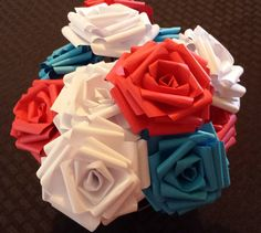 Paper Roses  Plain by PaperGoodsByJulie on Etsy