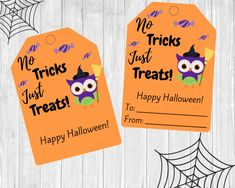 This listing includes 2 digital downloadable PDF Files each containing 9 Halloween owl gift tags. These are perfect to attach to a gift for your staff, co-workers, neighbors, friends, or your child's teachers. Halloween Owl, Halloween Gifts, Happy Halloween, Owl Treats, Gift Tags Printable, Cute Owl, Goodie Bags, Starting A Daycare, Preschool
