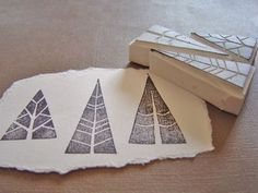 An easy way to conjure up the spirit of old engravings. Love these stamps.: