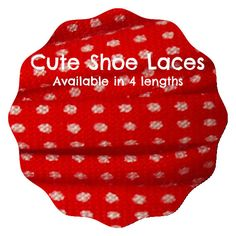Red Polka dot shoe laces spotty shoelaces  gift for