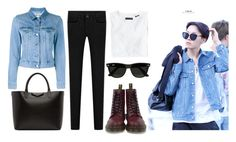 """BTS J-Hope"" by banana-lee ❤ liked on Polyvore featuring Wings + Horns, Dr. Martens, Ray-Ban, Acne Studios and Givenchy"