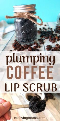 Easy DIY Coffee Scrubs for Face, Body and Lips - Homemade Gift Idea - Homemade coffee lip scrub is the best way to exfoliate, moisturize and plump lips. DIY lip scrub is - Homemade Coffee Scrub, Lip Scrub Homemade, Homemade Skin Care, Diy Skin Care, Homemade Gifts, Homemade Beauty, Diy Coffe Scrub, Coffee Face Scrub, Diy Gifts