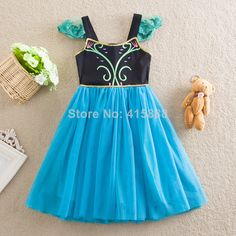 2014 Summer New Girls Frozen Dress  Frozen Clothes For Girls Girls Summer Print Fly Sleeve Yarn TUTU Party Dresses,5pcs/lot,3 8Y-in Apparel ...