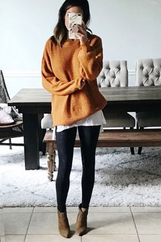 Ideas Party Outfit Ideas Winter Leggings For 2019 Cute Outfits With Leggings, Black Leggings Outfit, How To Wear Leggings, Cute Leggings, Sweaters And Leggings, Tops For Leggings, Sporty Outfits, Mode Outfits, Sweater Outfits