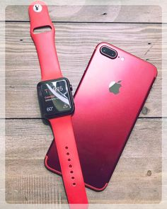 This is the ruby red iPhone 8 next to the red Apple watch. The apple watch was released on April while the iPhone 8 was released on September Iphone 7 Plus, Free Iphone, Iphone App, Apple Iphone, Apple Desktop, Accessoires Ipad, Apple Coque, Iphone Gadgets, Modelos Iphone