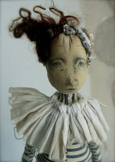 Loula Large Cloth Art Doll by ThePaleRook on Etsy