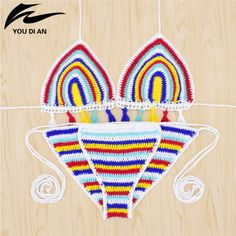 Sexy Handmade Crochet Bikini women crochet Swimsuit Brazilian biquini 2016 Crochet Swimwear Bathing Suit hot sale beach suit <3 Click the image to visit the website