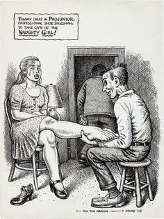 Original Robert Crumb Snatch Comics | 92418: Robert Crumb Projunior, Professional Shoe Salesm
