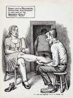 Original Robert Crumb Snatch Comics   92418: Robert Crumb Projunior, Professional Shoe Salesm