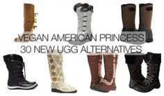 Your feet are getting cold and you want stylish winter boots but, yeah, you don't want to buy UGGS? Well, you've got plenty of company!  Vegan Ameri