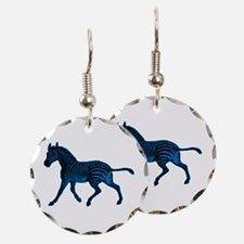 Blue Zebra Earring for