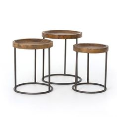 Chic Massimo Nesting Tables Side Table Iron Reclaimed Pine Light Rustic Black Furniture from top store Nesting End Tables, Wood End Tables, Side Tables, Coffee Tables, Beer Table, End Table Sets, Coffee Mugs, Large Table, Small Tables