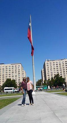 In plaza de la Moneda, Santiago.
