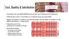 Here is a break down of the Jamberry wrap sheet and what you get! How awesome is it that you can get TWO manicures and TWO pedicures from a Jamberry wrap sheet?? Like my page on Facebook JamzWithJen NZ to keep up to date with all the exciting info!