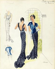 From the Henri Bendel Collection online; Schiaparelli, 1934.