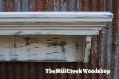 Distressed Wall Shelf 36 Inches Shabby by TheMillCreekWoodshop, $85.00