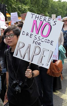There is no dresscode for RAPE !  #slutwalk