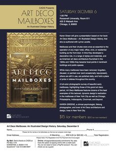Afternoon Lecture: Art Deco Mailboxes- An Illustrated Design History - Chicago Art Deco Society (Chicago, IL) - Meetup