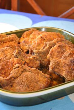 Panerade fläskkotletter God Mat, Crockpot, Good Food, Food And Drink, Pasta, Meat, Recipes, Easy Recipes, Crock Pot