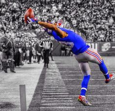 Another pic of the great Odell Beckham Jr. catch #NYG #LSU #nfl