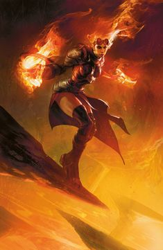 Chandra, the Firebrand - MtG Planeswalker Art