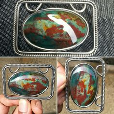 On sale  Pendant Natural Bloodstone Multicolour