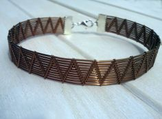 Men's Bangle  Wire Wrapped Bangle  Woven Bangle  by EmmaWyattArt, £20.00